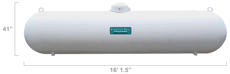 1000 Gallon Worthington Propane Tank