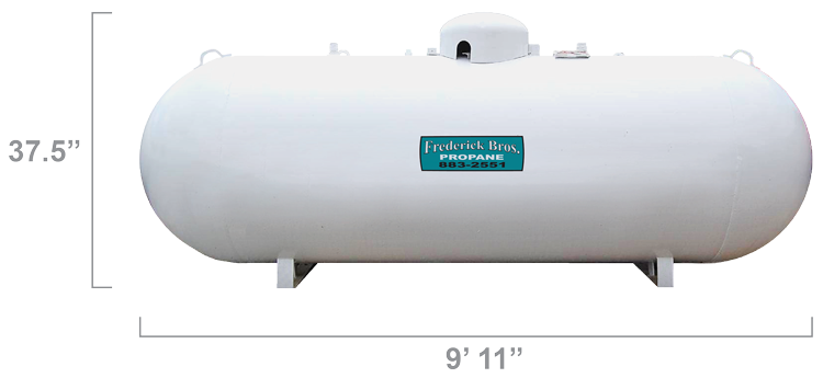 500 Gallon Worthington Propane Tank